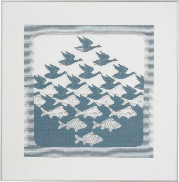 Bird & fish greyblue