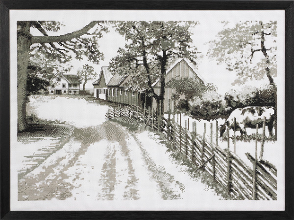 Monochrome farm