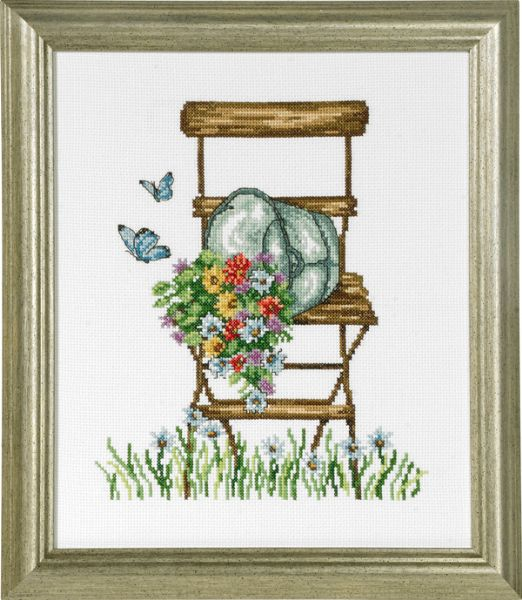 Chair with flowers
