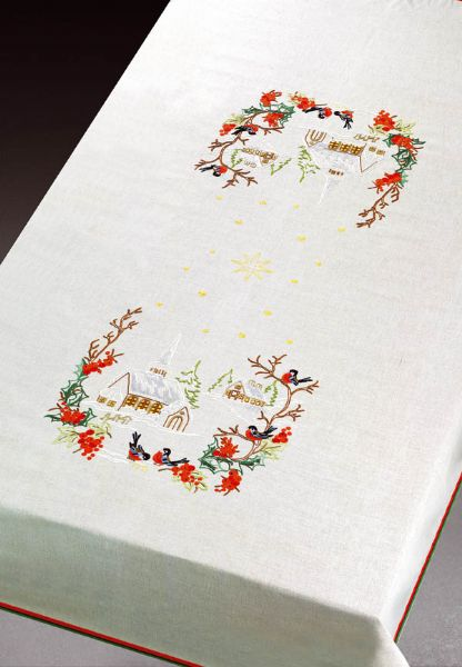Christmas Table Cloth ½ Linen