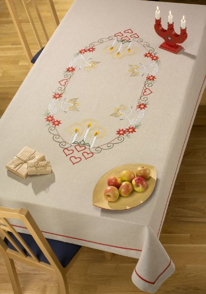 Tablecloth with angels