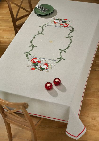Printed tablecloth ½ Linen