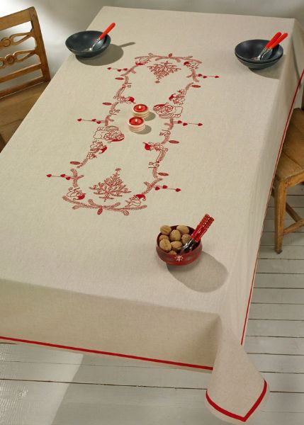 Printed Table cloth ½ Linen