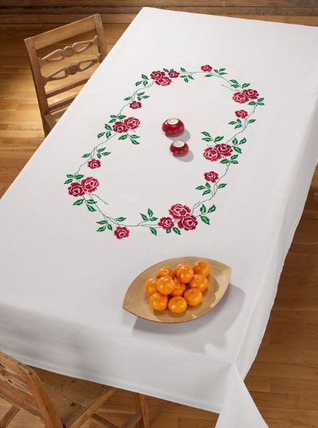 Printed tablecloth 100% cotton