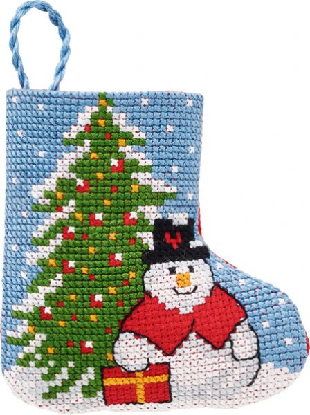 Fir/snowman stocking