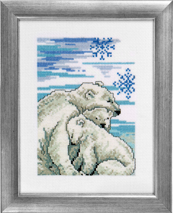 Polar bear with kids