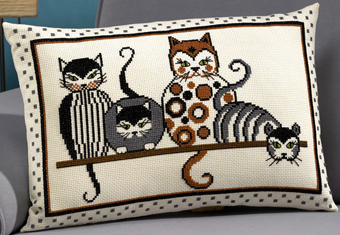 Cushion w/cats