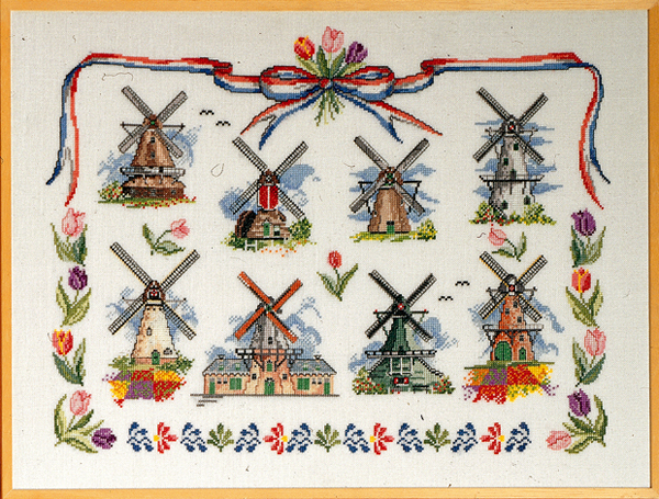 Dutch Windmills       60x45 cm
