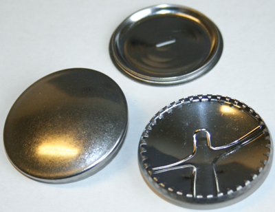 Metalic cover buttons