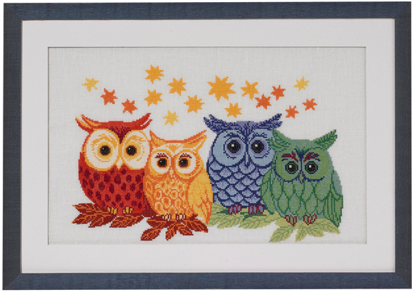 Owls in different colors