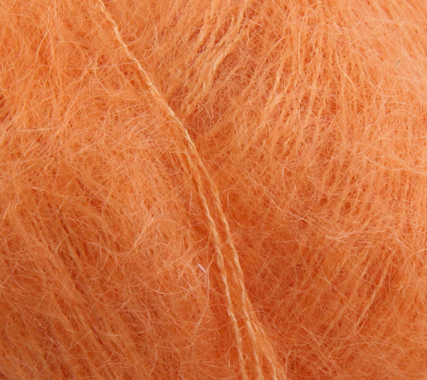 Angel mohair lys orange