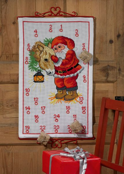 Santa Claus with horse